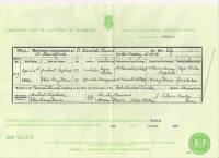 1914 Marriage Certificate Herbert Shepherd and Elsie Daws